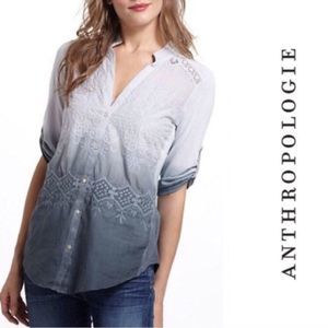 Anthropologie Tiny Dip Dyed Eyelet Ombre Top